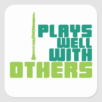 Plays Well With Others Square Sticker