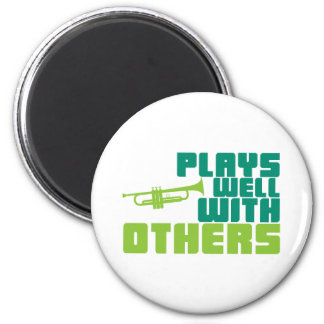 Plays Well with Others - Trumpet Magnets