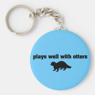 Plays Well With Otters Keychains