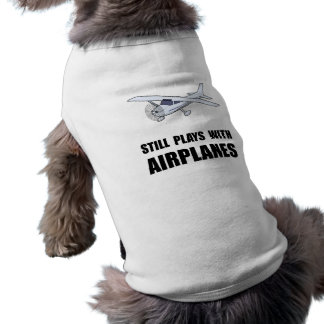 Plays With Airplanes Sleeveless Dog Shirt