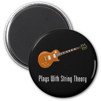 Plays With String Theory - Guitar 6 Cm Round Magnet