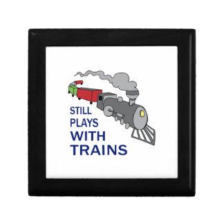 PLAYS WITH TRAINS KEEPSAKE BOX