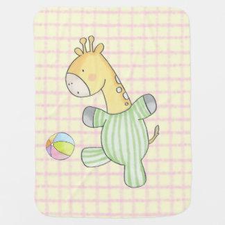 Playtime For Baby Giraffe Baby Blanket