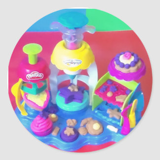 Playtime Toy Party - Play Doh Fun!!! Round Sticker
