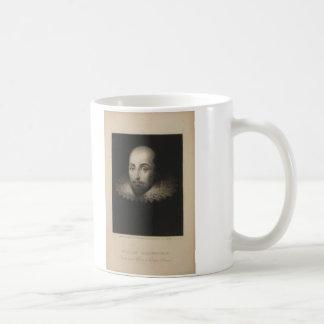 Playwright William Shakespeare by Cornelius Jansen Basic White Mug