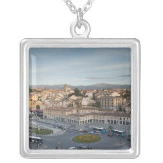 Plaza de Artilleria with El Acueducto Silver Plated Necklace