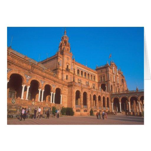 Plaza de Espana in Seville, Spain. Card