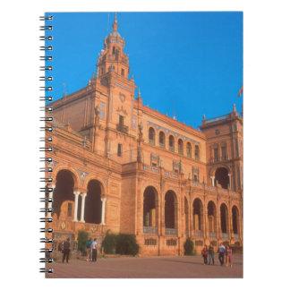 Plaza de Espana in Seville, Spain. Notebooks