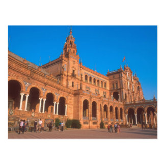 Plaza de Espana in Seville, Spain. Postcard