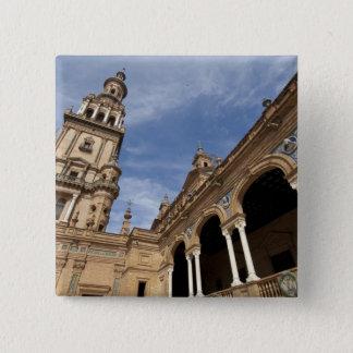 Plaza de Espana, Seville, Andalusia, Spain 15 Cm Square Badge