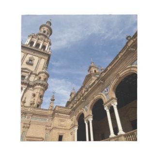 Plaza de Espana, Seville, Andalusia, Spain Notepad