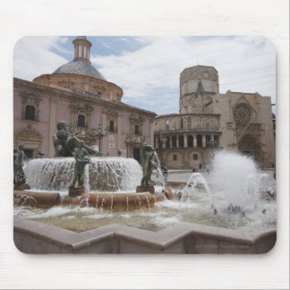 Plaza De La Virgin And Basilica De Virgen Mouse Mat