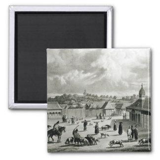 Plaza de San-Carlos de Chiloe, 1835  ] Square Magnet