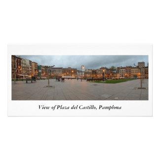 Plaza del Castillo Personalized Photo Card