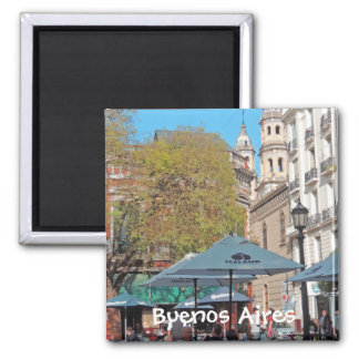 Plaza Dorrego in the Afternoon Square Magnet