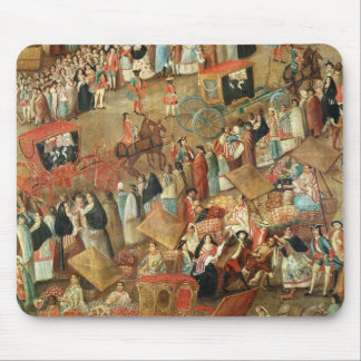 Plaza Mayor in Mexico, detail of carriages Mouse Mat