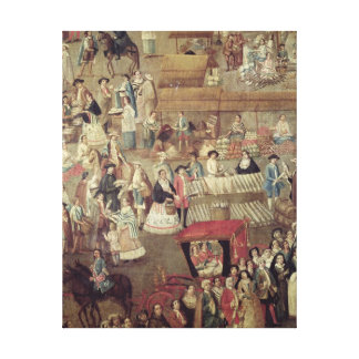 Plaza Mayor in Mexico, detail of the Market Stretched Canvas Print