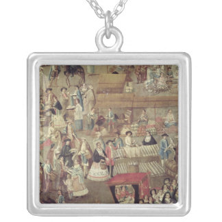 Plaza Mayor in Mexico, detail of the Market Silver Plated Necklace