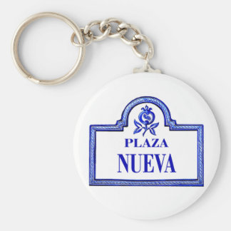Plaza Nueva, Granada Street Sign Keychains