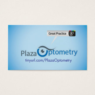 Plaza Optometry Business Card