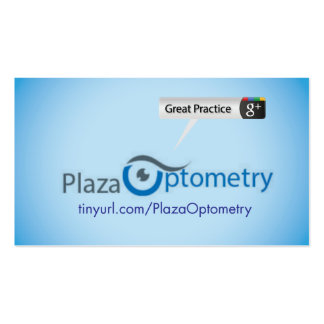 Plaza Optometry Pack Of Standard Business Cards