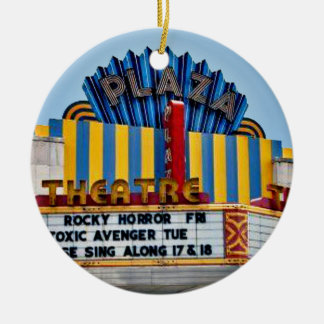 Plaza Theatre, Vintage Atlanta Landmark Coasters Christmas Ornament