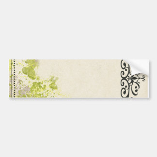 PLB OLD-FASHIONED VINTAGE BUTTERFLIES FLORAL DECOR BUMPER STICKERS