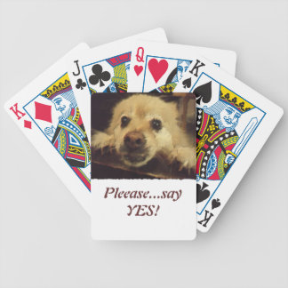 Pleading Dog Bicycle Poker Cards
