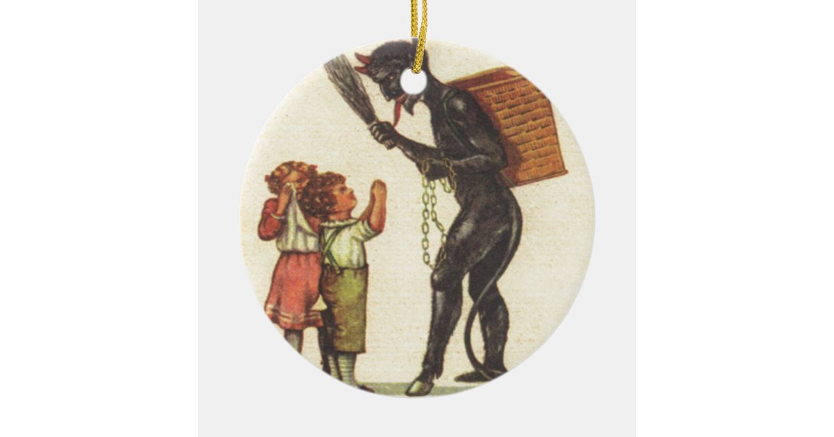 Pleading With Krampus Christmas Ornament | Zazzle.co.uk
