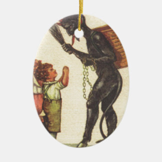 Pleading With Krampus Christmas Ornament