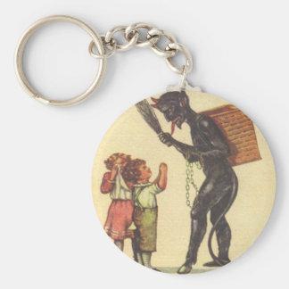 Pleading With Krampus Key Ring