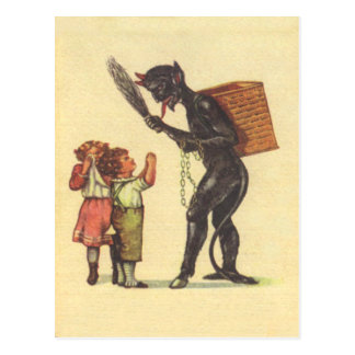 Pleading With Krampus Postcard