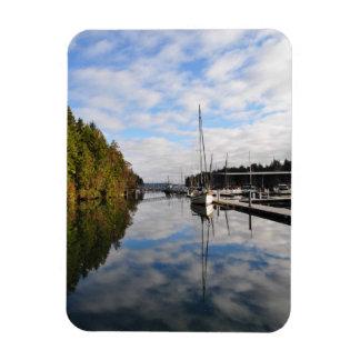 Pleasant Harbour Marina Reflections Rectangular Photo Magnet
