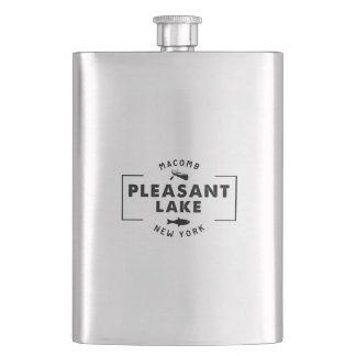 Pleasant Lake Classic Stainless Steel Flask