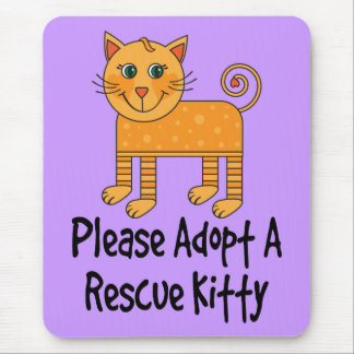 Please Adopt A Rescue Kitty Cat Gift Mouse Mat