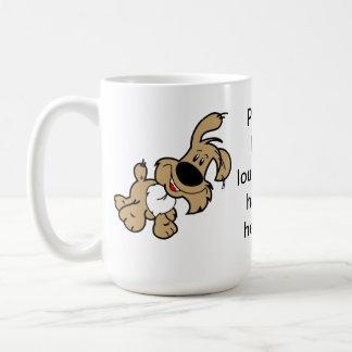 Please Bark Louder. I'm Hard of Hearing. Basic White Mug