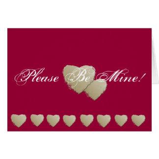Please Be Mine! Greeting Card