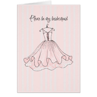 please be my bridesmaid cards