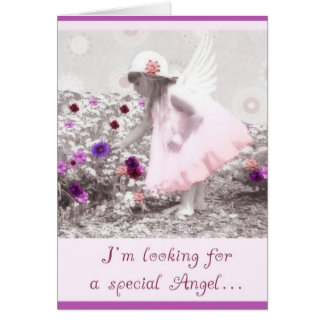 please be my flowergirl greeting card
