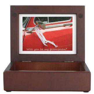 Please be my Groomsman - invitation Keepsake Box