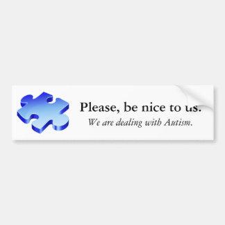 Please Be Nice Bumper Sticker