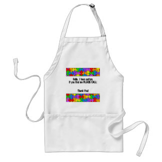 Please Call Autism ID Tag Standard Apron