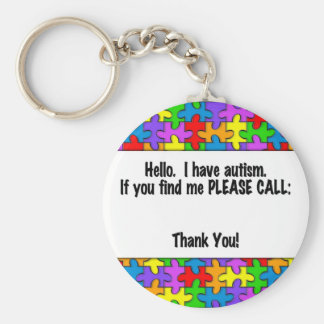 Please Call Autism ID Tag Key Ring