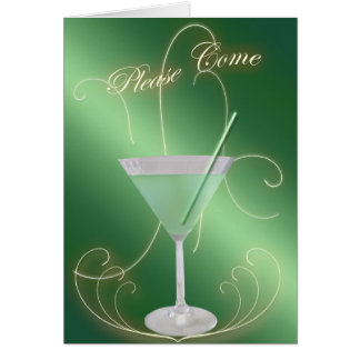 Please Come Cocktail Party Invitation Stationery Note Card