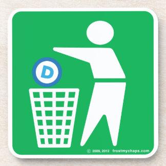 Please Dispose of Socialism - Democrat symbol Drink Coasters