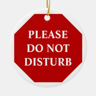 Please Do Not Disturb Door Hanger Round Ceramic Decoration
