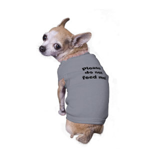 Please do not feed me! sleeveless dog shirt