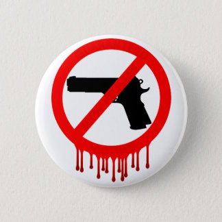 please do not use guns 6 cm round badge