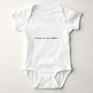 please do the needful baby bodysuit