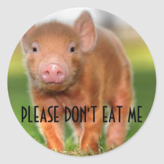 Please Don't Eat Me Classic Round Sticker